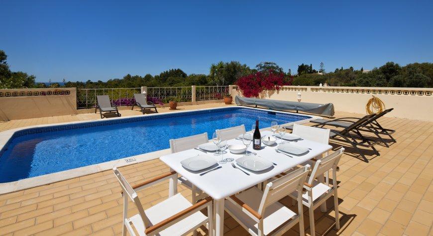 Villa michel villa in vale do milho met uitzicht op zee en prive zwembad - Zwembad terras outs ...